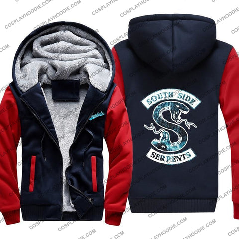 Riverdale South Side Serpents Fleece Winter Hoodie Jacket Color3 / M