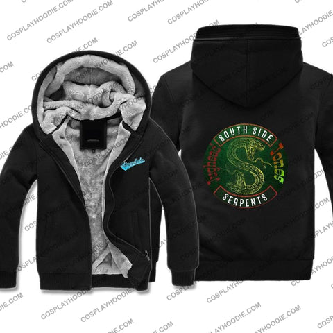 Riverdale South Side Serpents Fleece Winter Hoodie Jacket Color4 / M