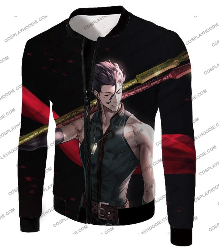 Fate Stay Night Handsome Lancer Diarmuid Of The Love Spot Black T-Shirt Fsn093 Jacket / Us Xxs