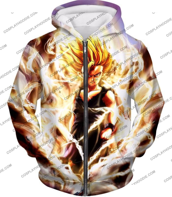 Dragon Ball Super Awesome Gohan Ultimate Saiyan 2 Cool Graphic Action T-Shirt Dbs094 Zip Up Hoodie /
