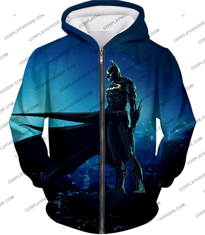 Protecting In The Dark Ultimate Hero Batman Awesome Graphic T-Shirt Bm094 Zip Up Hoodie / Us Xxs