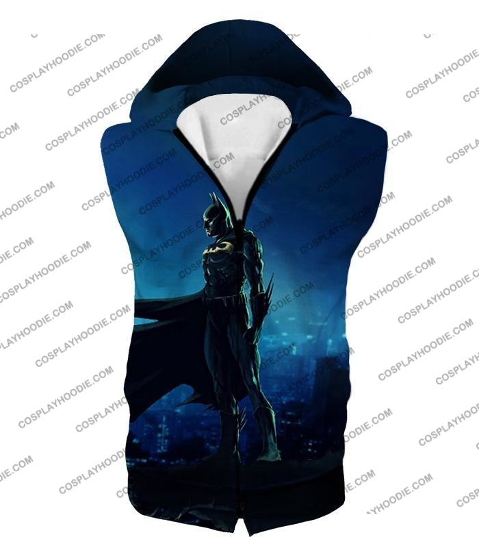 Protecting In The Dark Ultimate Hero Batman Awesome Graphic T-Shirt Bm094 Hooded Tank Top / Us Xxs