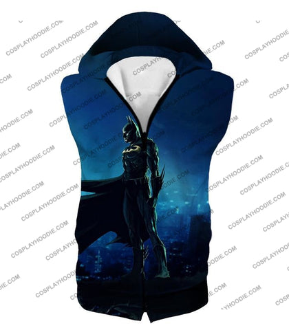 Image of Protecting In The Dark Ultimate Hero Batman Awesome Graphic T-Shirt Bm094 Hooded Tank Top / Us Xxs
