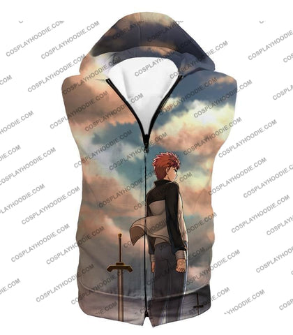 Image of Fate Stay Night Super Cool Hero Shirou Emiya Unlimited Blade Works T-Shirt Fsn095 Hooded Tank Top /