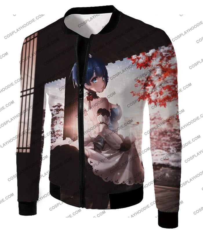 Re:zero Short Haired Rem Water Magic User Anime T-Shirt Re095 Jacket / Us Xxs (Asian Xs)