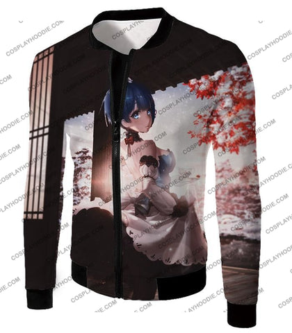 Image of Re:zero Short Haired Rem Water Magic User Anime T-Shirt Re095 Jacket / Us Xxs (Asian Xs)