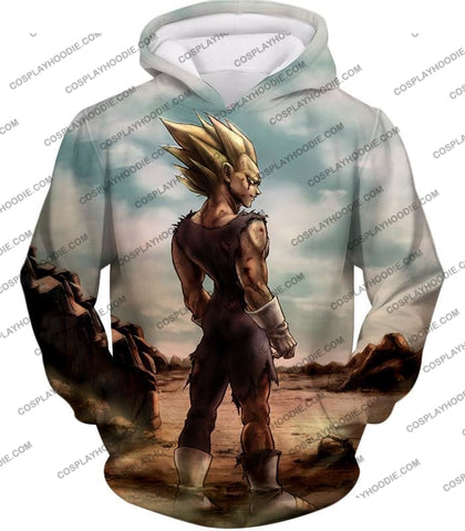 Image of Dragon Ball Super Vegeta Saiyan 2 Awesome Graphic Anime T-Shirt Dbs096 Hoodie / Us Xxs (Asian Xs)