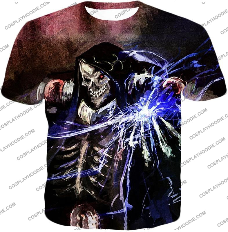 Overlord Ultimate Guild Master Ainz Ooal Gown Cool Action Promo T-Shirt Ol096 / Us Xxs (Asian Xs)