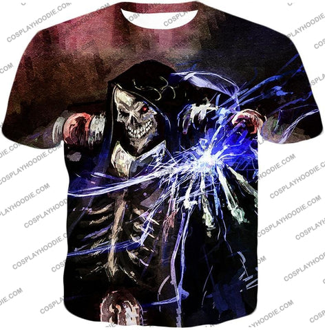 Image of Overlord Ultimate Guild Master Ainz Ooal Gown Cool Action Promo T-Shirt Ol096 / Us Xxs (Asian Xs)