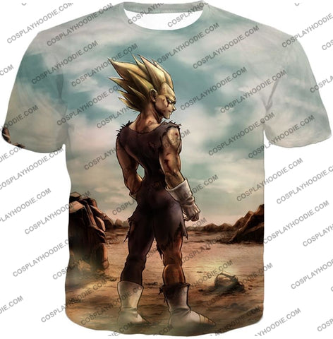 Image of Dragon Ball Super Vegeta Saiyan 2 Awesome Graphic Anime T-Shirt Dbs096 / Us Xxs (Asian Xs)