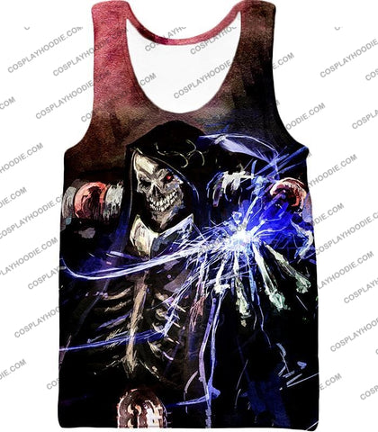 Image of Overlord Ultimate Guild Master Ainz Ooal Gown Cool Action Promo T-Shirt Ol096 Tank Top / Us Xxs