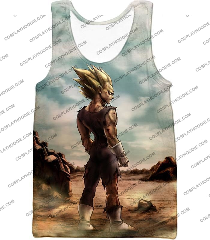 Dragon Ball Super Vegeta Saiyan 2 Awesome Graphic Anime T-Shirt Dbs096 Tank Top / Us Xxs (Asian Xs)
