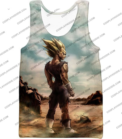 Image of Dragon Ball Super Vegeta Saiyan 2 Awesome Graphic Anime T-Shirt Dbs096 Tank Top / Us Xxs (Asian Xs)