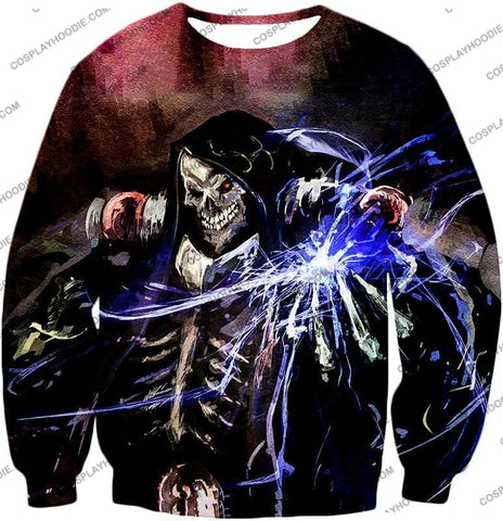 Image of Overlord Ultimate Guild Master Ainz Ooal Gown Cool Action Promo T-Shirt Ol096 Sweatshirt / Us Xxs