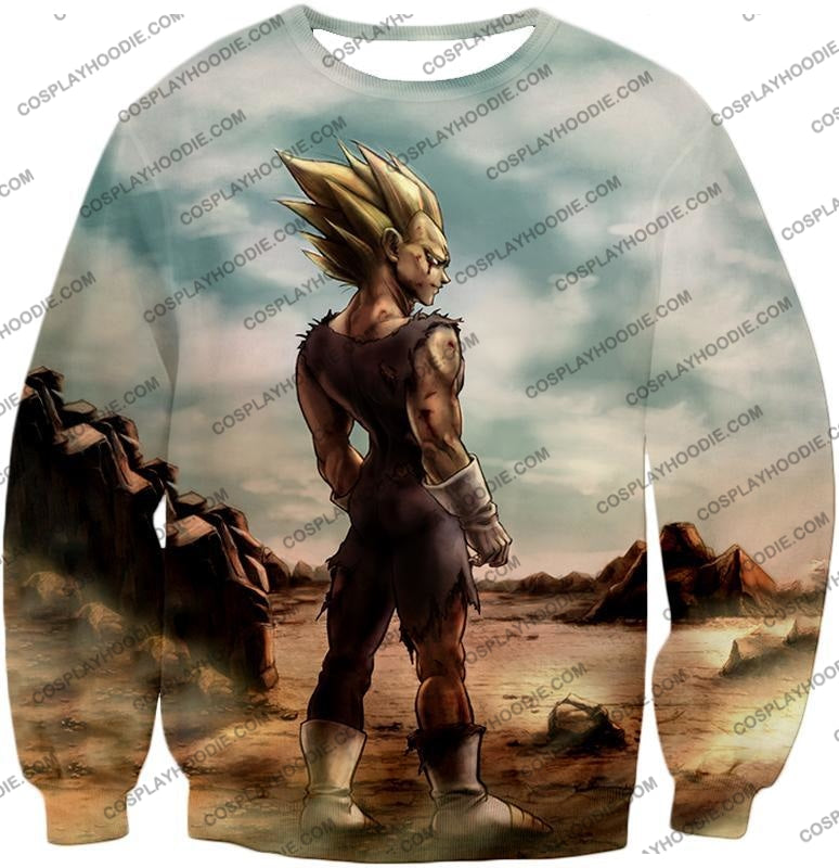 Dragon Ball Super Vegeta Saiyan 2 Awesome Graphic Anime T-Shirt Dbs096 Sweatshirt / Us Xxs (Asian