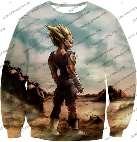 Image of Dragon Ball Super Vegeta Saiyan 2 Awesome Graphic Anime T-Shirt Dbs096 Sweatshirt / Us Xxs (Asian