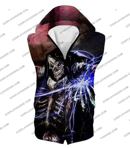 Image of Overlord Ultimate Guild Master Ainz Ooal Gown Cool Action Promo T-Shirt Ol096 Hooded Tank Top / Us