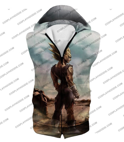 Image of Dragon Ball Super Vegeta Saiyan 2 Awesome Graphic Anime T-Shirt Dbs096 Hooded Tank Top / Us Xxs