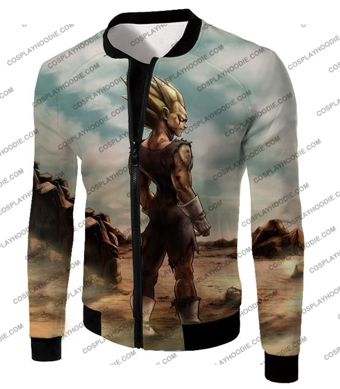 Dragon Ball Super Vegeta Saiyan 2 Awesome Graphic Anime T-Shirt Dbs096 Jacket / Us Xxs (Asian Xs)