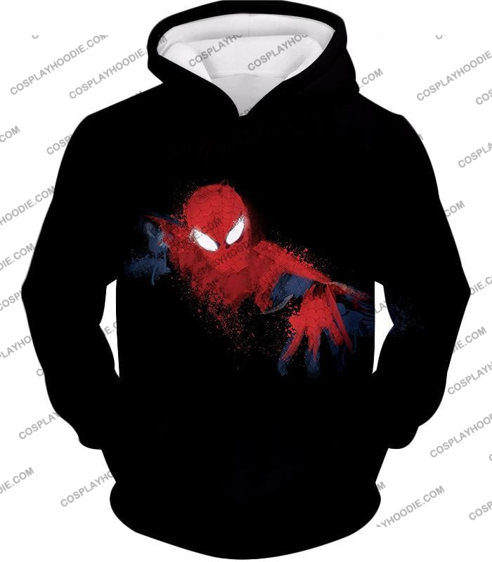 Awesome Hero Spiderman Faded Print Black T-Shirt Sp099 Hoodie / Us Xxs (Asian Xs)