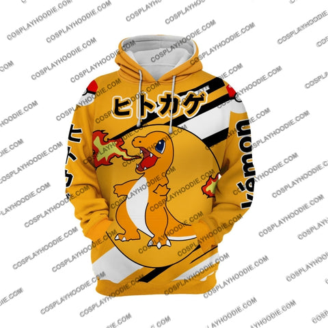Pokemon Charmander Cosplay Hoodie Jacket