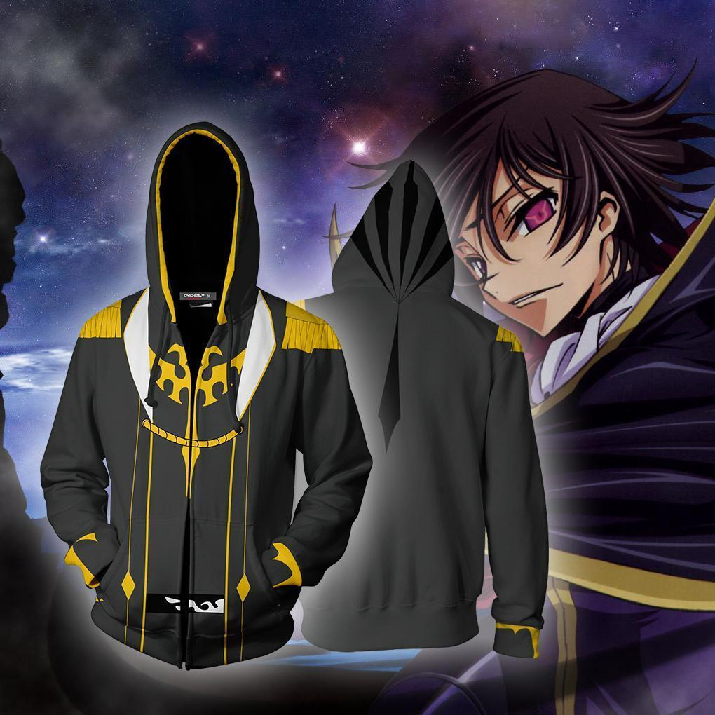 Code Geass Lelouch Lamperouge Hoodie Cosplay Jacket Zip Up