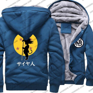 Dragon Ball Z Saiyan Thicken Fleece Winter Hoodie Jacket Color1 / M