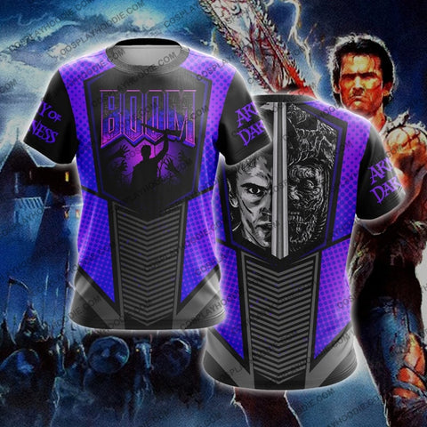 Army Of Darkness T-Shirt Purple T-Shirt