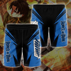 Attack On Titan Board Short Blue Shorts