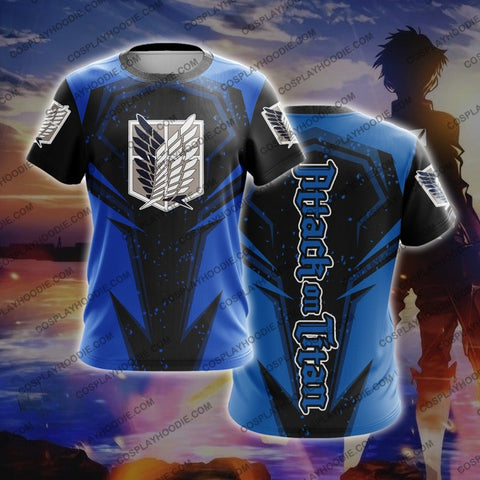 Attack On Titan T-Shirt Blue T-Shirt