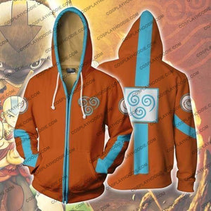 Avatar The Last Airbender Zip Up Hoodie Jacket Cosplay
