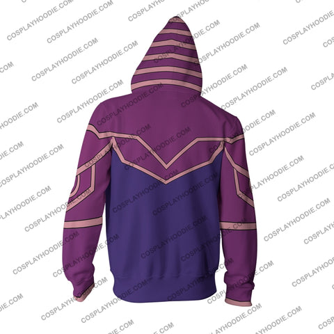 Image of Yu-Gi-Oh! Dark Magician (Male) Hoodie Cosplay Jacket Zip Up