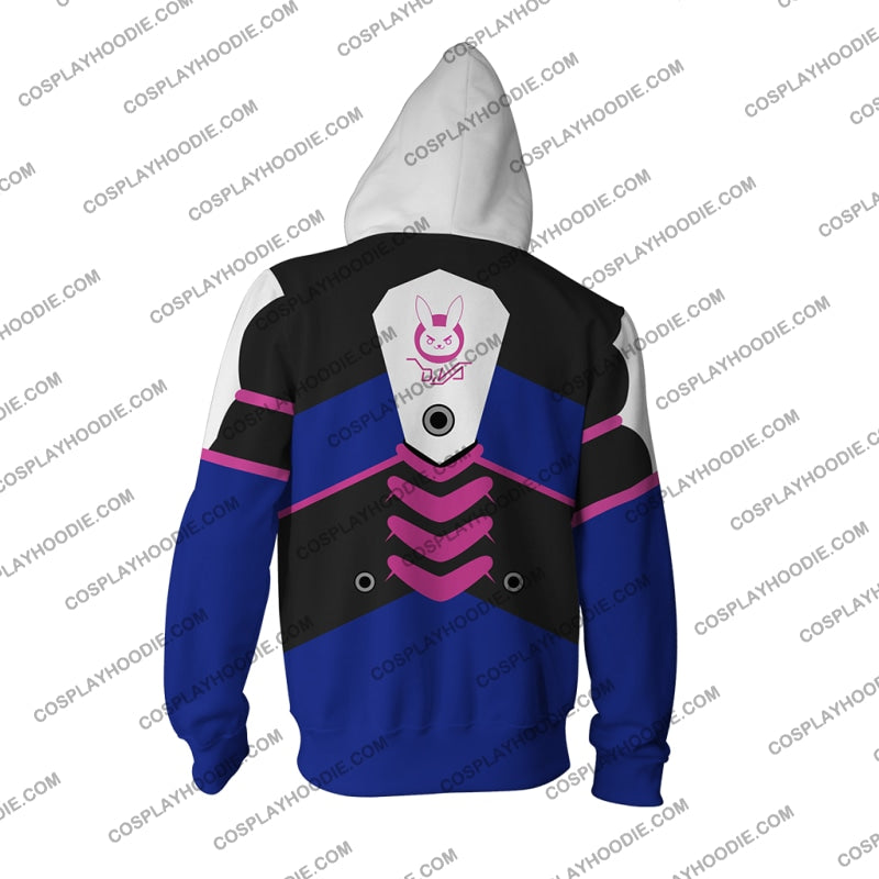 Overwatch D.va Hoodie Cosplay Jacket Zip Up