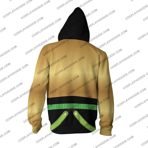 Jojos Bizarre Adventure Stardust Crusaders Dio Brando Hoodie Cosplay Jacket Zip Up