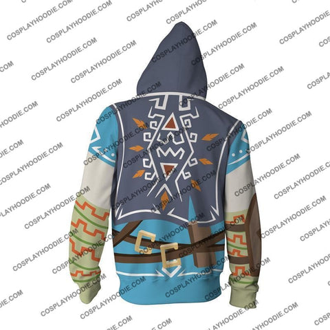 Image of The Legend Of Zelda Breath The Wild Link Cosplay Hoodie Jacket