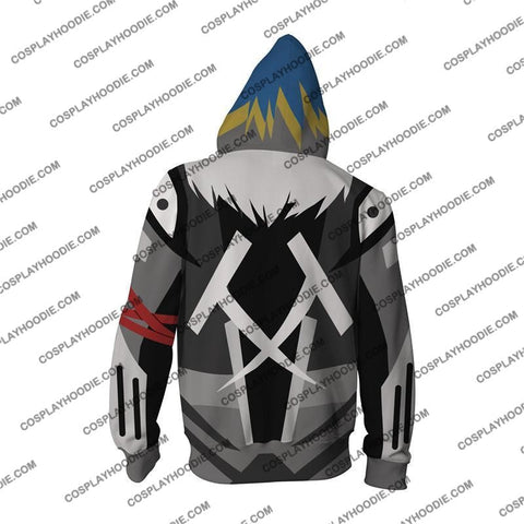 Digimon Beelzebumon Cosplay Zip Up Hoodie Jacket