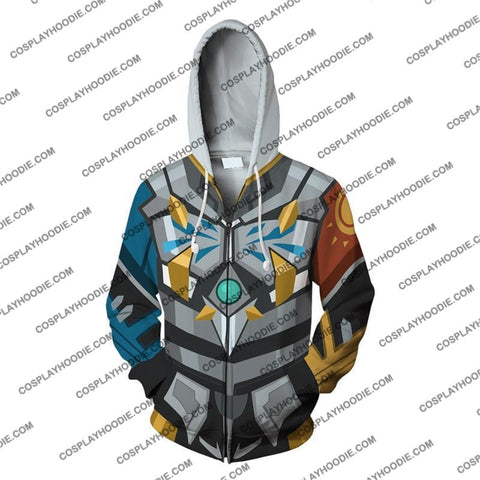 Digimon Omegamon Cosplay Zip Up Hoodie Jacket