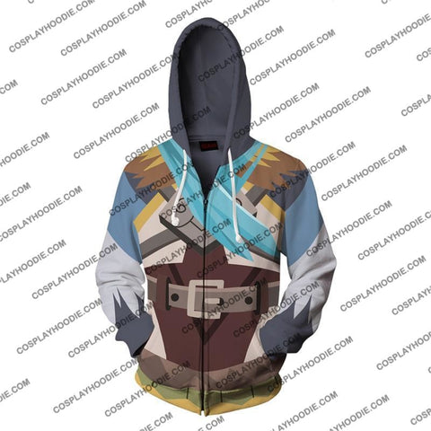 Image of The Legend Of Zelda Breath The Wild Revali Cosplay Hoodie Jacket