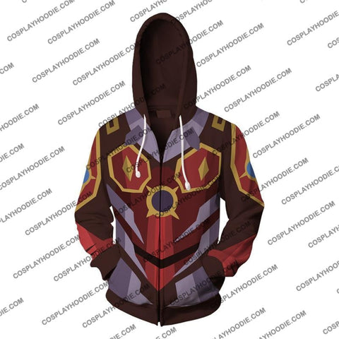 Digimon Dukemon Cosplay Zip Up Hoodie Jacket