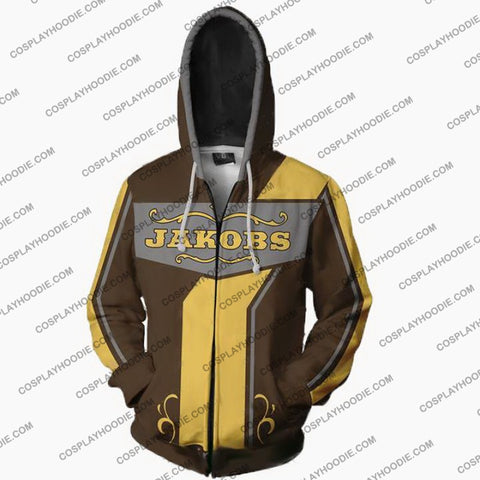 Borderlands Hoodies - Jakobs Zip Up Hoodie Jacket Cosplay