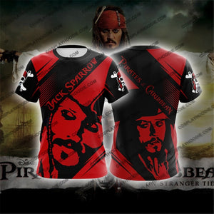Pirates Of The Caribbean Captain Jack Sparrow Cosplay T-Shirt T-Shirt