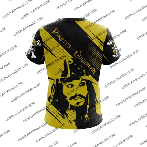 Pirates Of The Caribbean Captain Jack Sparrow V1 Cosplay T-Shirt T-Shirt