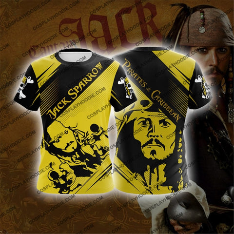 Pirates Of The Caribbean Captain Jack Sparrow V2 Cosplay T-Shirt T-Shirt