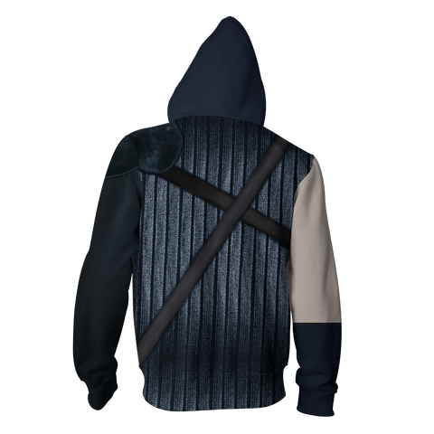 Image of Final Fantasy Vii Cloud Strife Hoodie Cosplay Jacket Zip Up