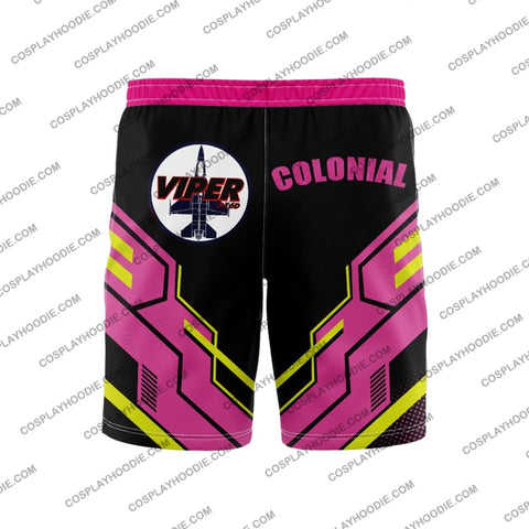 Colonial Viper Board Short Yellow And Red Shorts