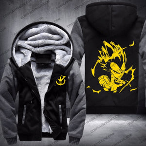 Dbz Dragon Ball Z Super Saiyan Vegeta Fleece Winter Hoodie Jacket