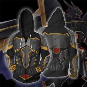 Digimon Alphamon Cosplay Zip Up Hoodie Jacket