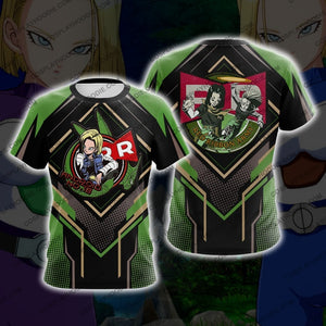 Dragon Ball Android 18 Cosplay T-Shirt T-Shirt