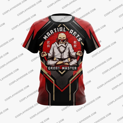 Dragon Ball Master Roshi Red Cosplay T-Shirt T-Shirt