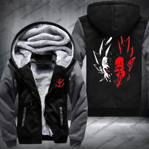 Dragon Ball Vegeta Monster Fleece Winter Jacket